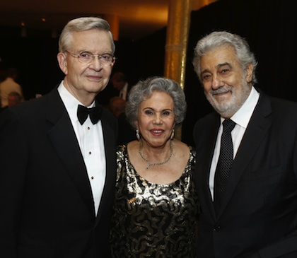 Placido Domingo with Alicia & Ed Clark at Hispanics for the Opera